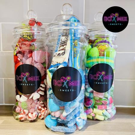 Filled Jars of Sweets - Boxmix.co.uk