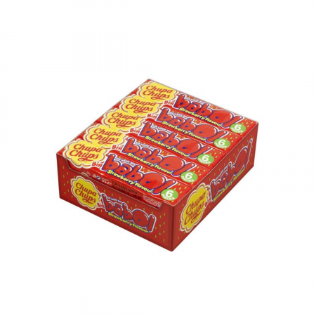 Chupa Chups Babol Strawberry- boxmix.co.uk