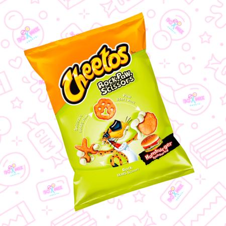 Frito Lay Cheetos Rock, Paw, Scissors Hamburger - 85g (EU) - Boxmix.co.uk