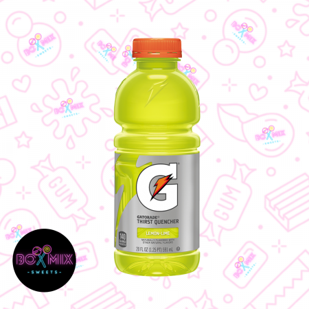 Gatorade Lemon & Lime - 20fl.oz (591ml) - Boxmix.co.uk